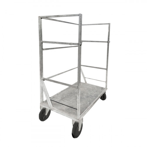 Trolley for moving dimensional parts