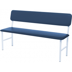 Medical bench with back