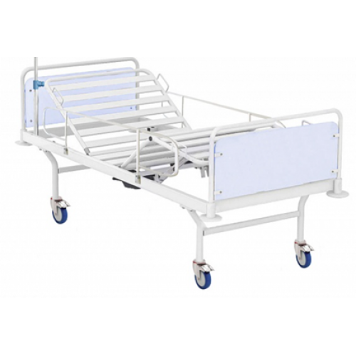 Кровать медицинская  четырех секционная усиленная с Червячным механизмом, размер 2100х960х840 ложе ламели