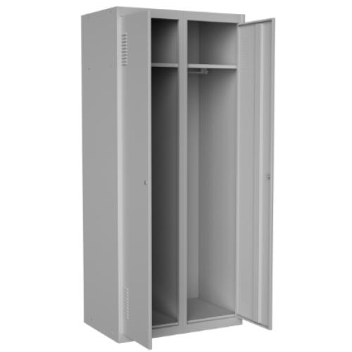 Шкаф гардеробный металлический двухдверный