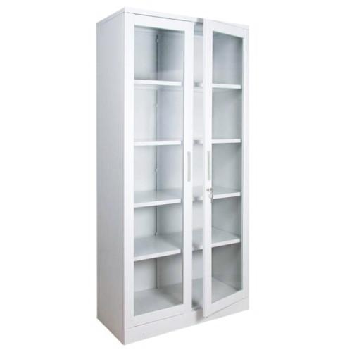 Шкаф для медикаментов металлический 4 двери со стеклом  ШМЛ-102, высота 1600мм