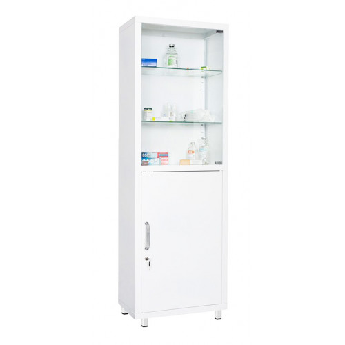 2-door metal cabinet for medicines