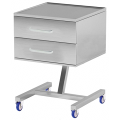 Metal assistant table with drawers