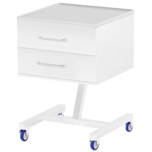Ассистентский стол металлический с ящиками