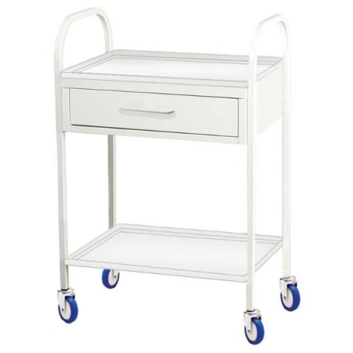 Стол для манипуляций медицинский с ящиком и полкой из стали